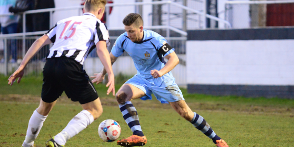 Lee Chappell in action against Maidenhead United