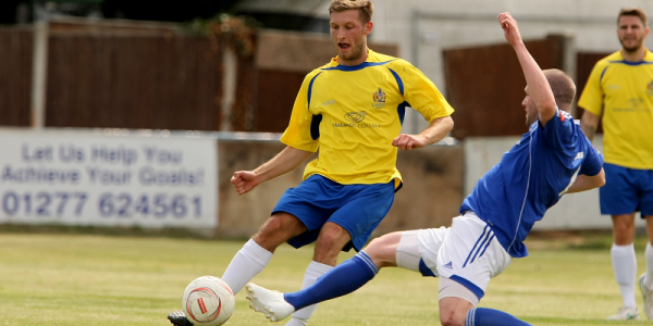 Danny Green in action against Billericay Town