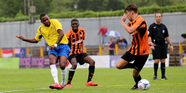 Michael Malcolm scores the second goal