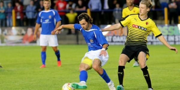 Billy Medlock in action against Watford