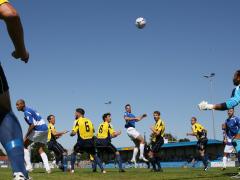 Ben Martin heads towards goal