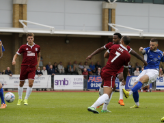 Louie Theophanous fires the Saints back into the game with an early second half equaliser
