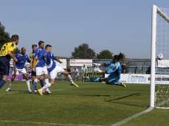 Louie Theophanous scores but his goal is disallowed