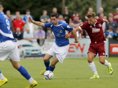 Luke Allen in action against Chelmsford City