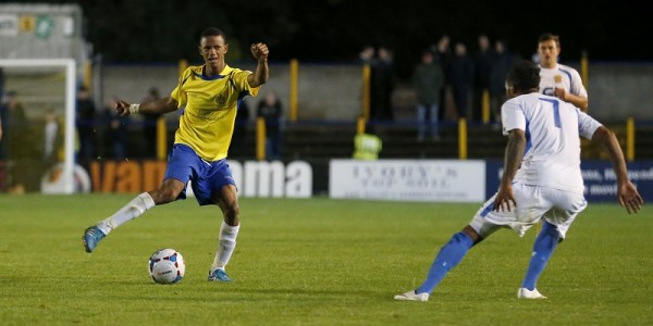 Ghassimu Sow in action against Basingstoke Town