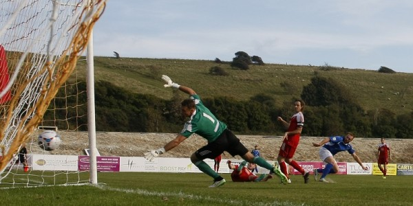 Harry Crawford goes close in the second half