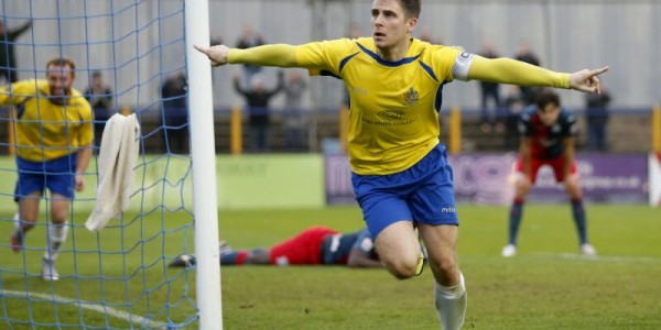 Lee Chappell celebrates after scoring the winning goal