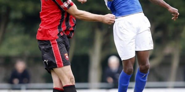 Kevin Krans in action against Petersfield Town
