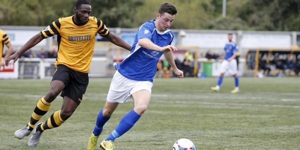 Luke Allen in action against Maidstone United