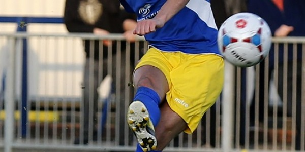 Billy Gibson in action against Havant & Waterlooville