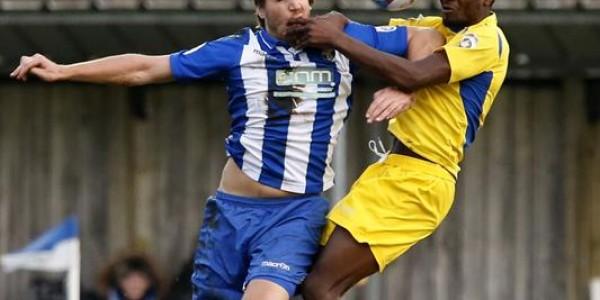 Eddie Oshodi in action against Bishops Stortford