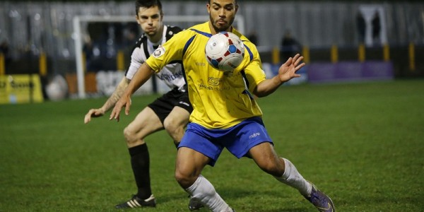 Jernade Meade in action against Maidenhead United