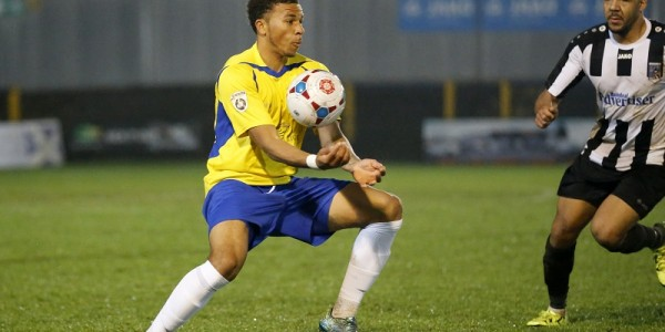 Jonathan Edwards in action against Maidenhead United