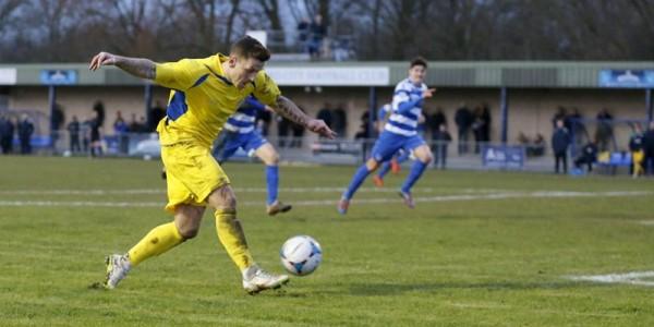 Charlie MacDonald has a shot at goal