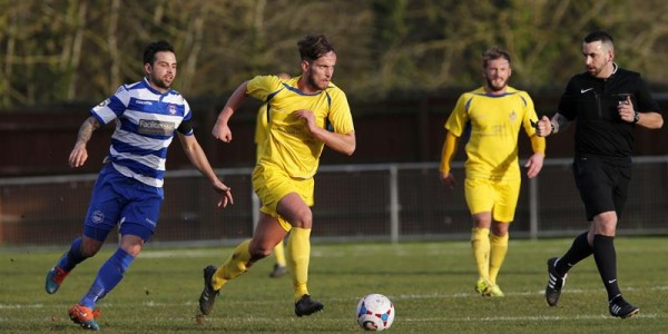 Sam Corcoran in action against Oxford City