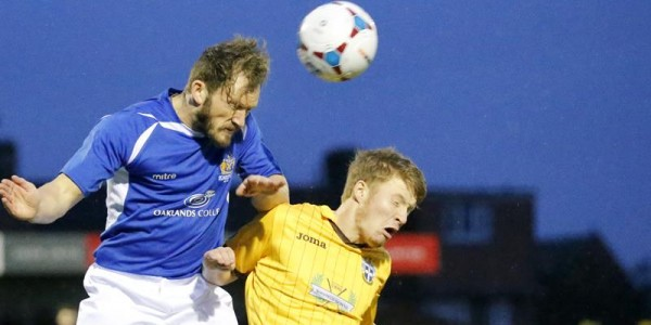 Scott Thomas in action against Sutton United