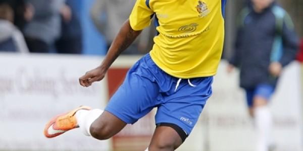 Al Bangura in action against Truro City
