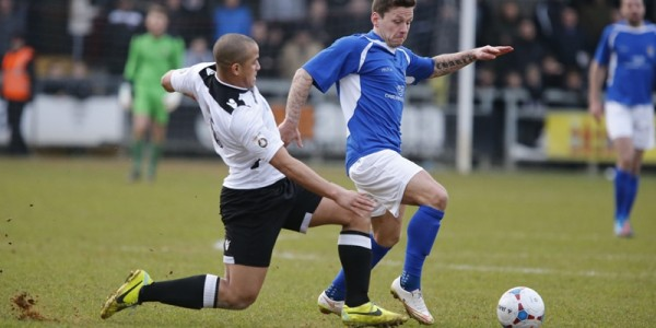 Charlie Macdonald in action against Dartford