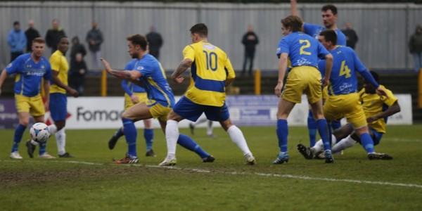 Edward Oshodi fires the Saints into an early lead
