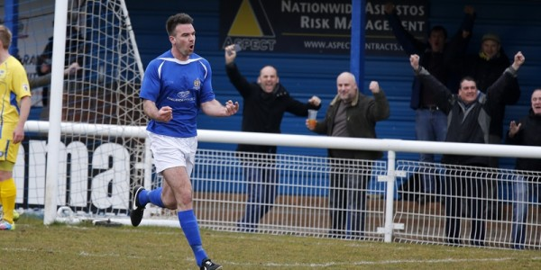 Ben Martin celebrates scoring the Saints equaliser
