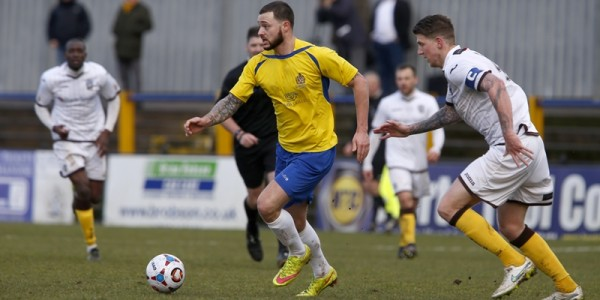 Louie Theophanous in action against Sutton United