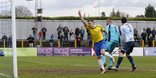 Charlie MacDonald celebrates his goal