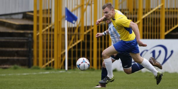 Harry Anderson in action against Havant & Waterlooville