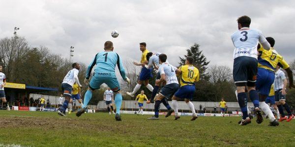 Michael Thalassitis heads the Saints into a 3 goal lead