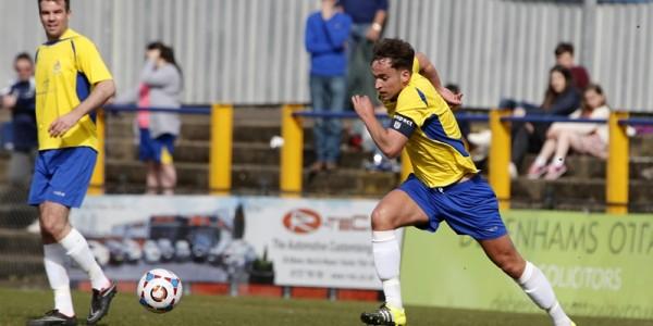 Sam Corcoran in action against Maidstone United