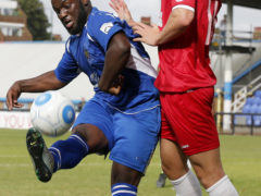 Junior Morias in action against Welling United