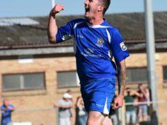 Matt Ball celebrates his goal
