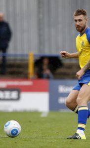 David Noble in action against Hampton & Richmond Borough
