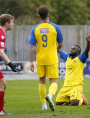 Junior celebrates his return to action by rounding of a fine performance by the Saints with the 5th goal of the game