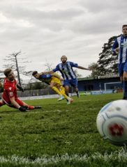 Louie Theophanous slots the ball home