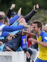 Sam Merson celebrates scoring the winner