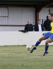 Sam Merson has a shot at goal