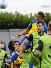 Sam Merson heads the Saints into the lead agaisnt Gosport Borough