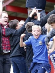 The joy of the FA Cup is all over the faces of the Saints fans