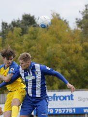 Tom Bender heads towards goal