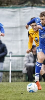 David Noble in action against East Thurrock United