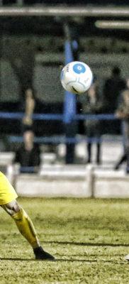 Jamie Cureton on debut for the Saints against Margate