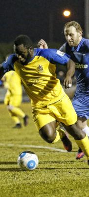 Junior Morias breaks through the Margate defensive line