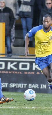 Christian Assombalonga on debut against Oxford City