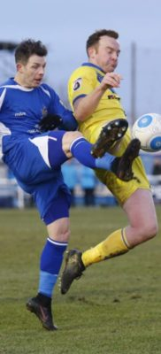 Jamie Cureton attempts to guide the ball towards goal