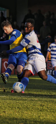 Jamie Cureton has a shot at goal