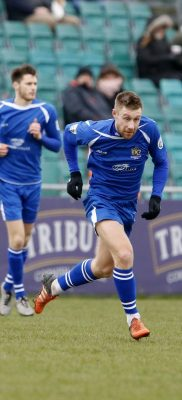 David Noble in action against Truro City