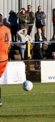 Charlie Walker blasts the ball towards goal