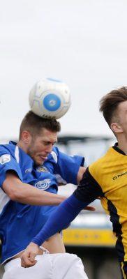 Jack Saville heads under pressure