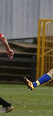 Joe Robinson on debut for the Saints against Bishop's Stortford