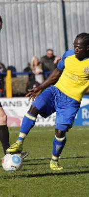 Solomon Sambou on debut for the Saints